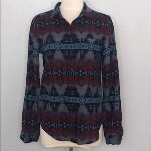 BDG Aztec Tribal Flannel Small